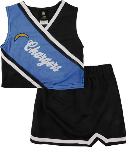 San Diego Chargers Girls 4-6 2 Piece Cheerleader Set at Amazon.com