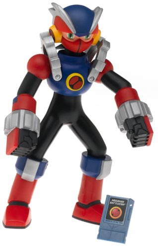 Buy Low Price Mattel Megaman NT Warrior Deluxe 10 Inch Action Figure MetalSoul w/1 Megaman Battlechip (B00077LNS4)