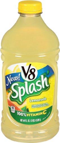 V8 Splash Juice, Lemonade, 64 Ounce (Pack Of 8)