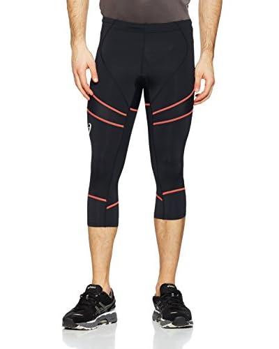 Asics Pantalone da Running Ti  [Nero/Arancione]