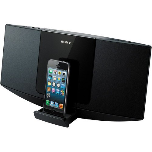 Sony Desktop Music Stereo System with Lightning 8-pin Connector Dock for Iphone 5, Ipod Touch 5th Generation, Ipod Nano 7th Generation, Single Disc CD Player, CD, CD-R/RW, And MP3 Playback, AM / FM Radio With 30-Station Presets, 10 Watts Full-Range Speaker System, Clock, Alarm And Sleep Timer,Remote Control, Auxiliary Input to Connect Tape Cassette or Mp3 Digital Music Players