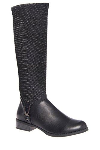 Fox Mid Calf Low Heel Boot