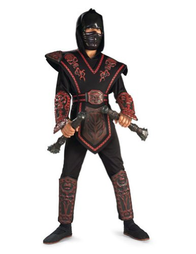 boys - Red Skull Warrior Ninja Child M Halloween Costume