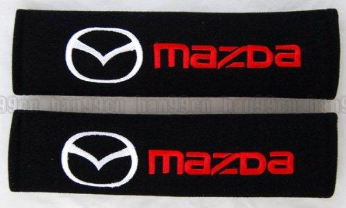 mazda-car-seat-belt-covers-shoulder-pads-black