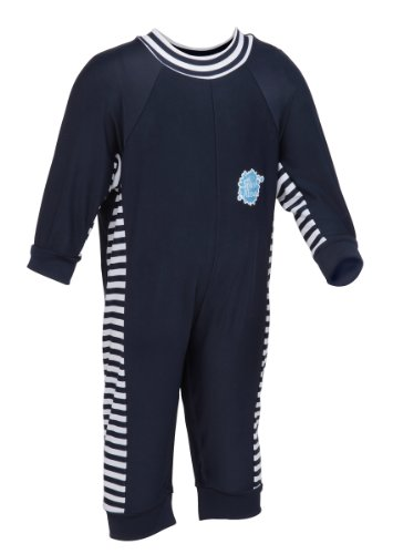 Splash About Uv All-In-One Suit (Sun Protection), Navy/White, 0-3 Months front-203840
