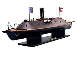 "CSS Virginia Limited 34"" - Civil War Ships - Model Ship Wood Replica - Not a Model Kit"
