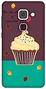 The Racoon Grip printed designer hard back mobile phone case cover for LeEco Le Max 2. (Cupcakes)