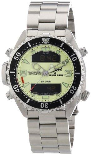 Chris Benz - CB-D-NEON-MB - Montre Mixte - Quartz Digitale - Bracelet Acier Inoxydable Argent