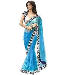 Radadiyatrd Women's Net Saree (JALPARI_NET_Blue)