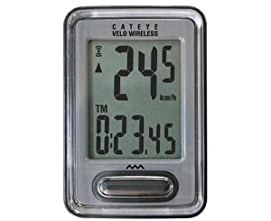 Cateye Velo Wireless Cycle Computer - Silver