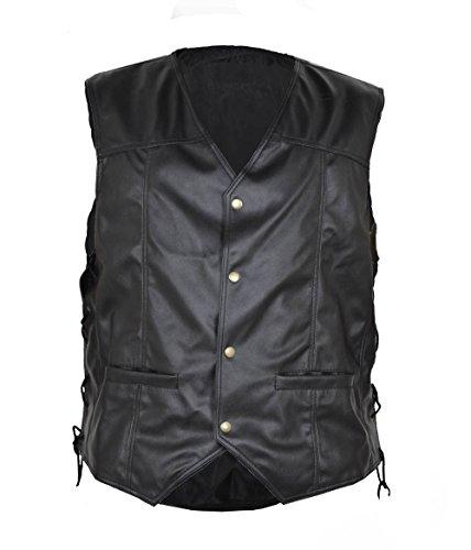 Walking Dead Angelo Piume Nero in finta pelle Gilet Black misura personalizzata