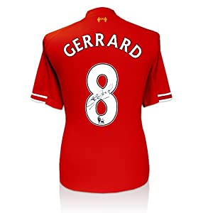 Steven Gerrard Signed Shirt - Liverpool Home 2013/2014 from A1 Sporting Memorabilia