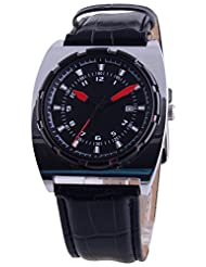 Saint Rizzo Analogue Black Dial Men's Watch (A002)