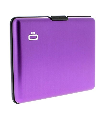 Portefeuille Big Stockholm Violet Aluminium anodisé Ögon designs BS-Purple