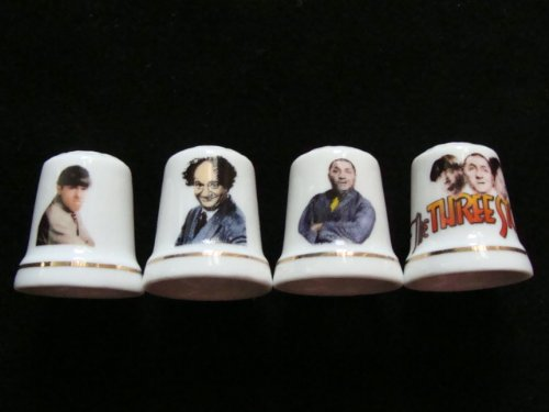 Three Stooges Thimble Gift Set, Limited Collector's Edition
