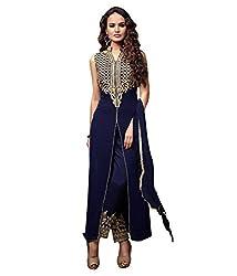 Aarsh Apparel Women's Georgette Salwar Suit Dress Material (aa-mayeshablue_Blue)
