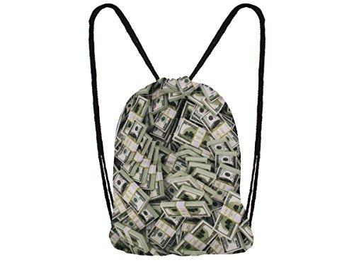 Sacca sportiva a tracolla per l'allenamento, ma non solo. Ultra leggero lifestyle viaggio borsa borsetta palestra zaino a spalla trend sport per uomini donne ragazzi ragazze bambini, Turnbeutel RU-90-118:RU-107 banconota