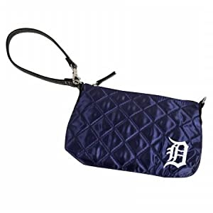 MLB Detroit Tigers Retro Quilted Wristlet, Navy by Littlearth