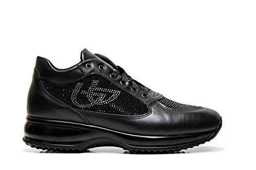 Blu Byblos 667305 Sneakers Donna Pelle NERO NERO 40