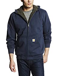Carhartt Men's Big-Tall Brushed Fleece Sweatshirt Sherpa Lined