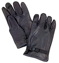 D-3A Black Leather Gloves (7)