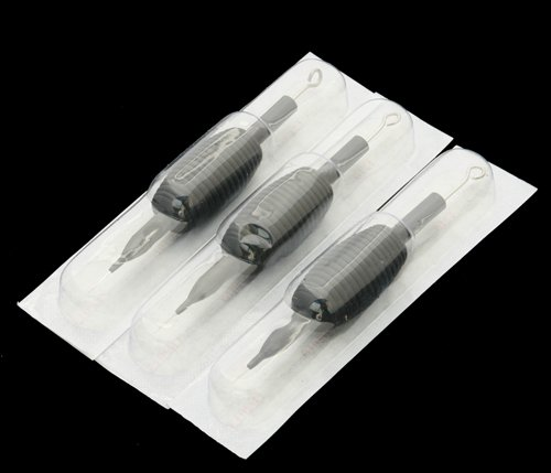 25 DISPOSABLE TATTOO NEEDLES TUBE GRIPS ROUND LINER 7RL BY FANCIER STUDIO RL7 KIT