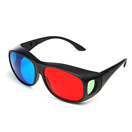 BIAL Red-blue 3D Glasses/ Cyan Anaglyph Simple style 3D Glasses 3D movie game-Extra Upgrade Style
