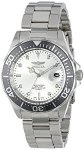 Invicta Pro Diver Silver-tone Dial Stainless Steel Mens Watch 14971