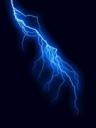 Sky Wall Decals Llightning Bolt - 30 Inches X 23 Inches - Peel And Stick Removable Graphic