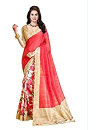 Shefali Fabrics Women's Multi Color Bhagalpuri Cotton Printed Saree (3150,Multi,Free Size)