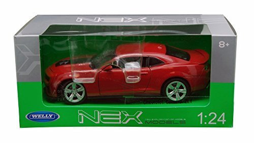 Chevy Camaro ZL1 , Red - Welly 24042 - 1/24 scale Diecast Model Toy Car (Chevy Camaro Model Car compare prices)