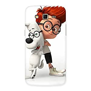Stylish Boy and Spec Dog Multicolor Back Case Cover for Samsung Galaxy Grand 2