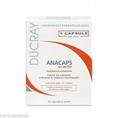 Ducray Anacaps Tri-activ Capsules X30 Anti Hair Loss Treatment Fast Hair Growth Strong Hair