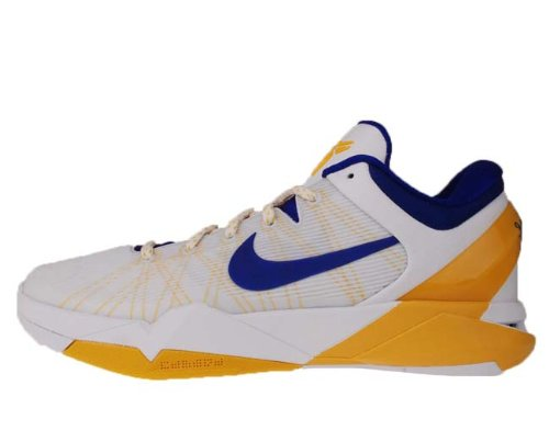 newest collection b82a3 a6643 Nike Zoom Kobe VII System White Del Sol Yellow Concord LA Lakers Home  488371-101