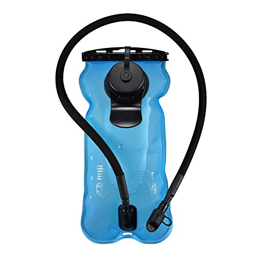 Hydration Bladder System Blue 100oz/3litres, Large Opening, Easy to Clean Water Reservoir, Microban Anti-bacteria, BPA Free Tasteless Water Bag Packs, Most Health for Cycling, Climbing, Hiking (Water Bladder 3l compare prices)