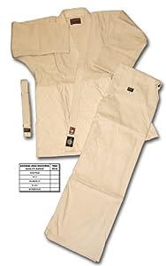 SHOGUN unbleached judo uniform/suit/gi, Silver quality, size: 110cm