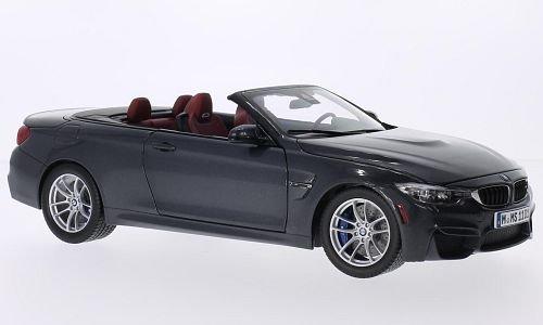 BMW M4 Convertible (F83), metallic-dark grey, 2014, Model Car, Ready-made, I-Paragon 1:18 (Bmw Models compare prices)