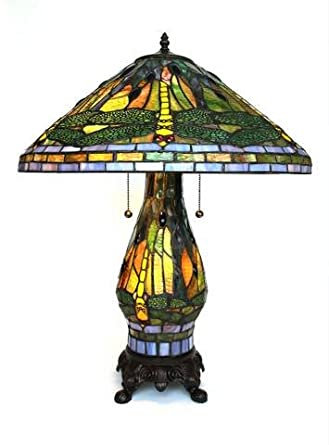 lamp with lighted base stained glass lamps tiffany. Black Bedroom Furniture Sets. Home Design Ideas