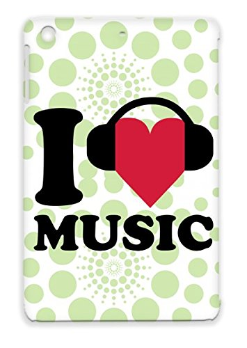 Music Love Disco Headphones Club Electro Party Dance Electronica I Heart Music Mixing Dj Red For Ipad Mini Cover Case