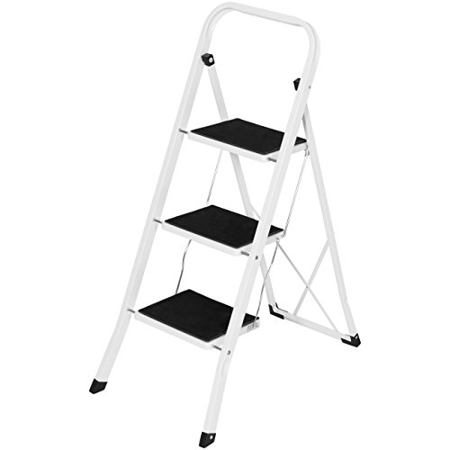 Best Choice Products Folding Portable Steel 3 Step Ladder