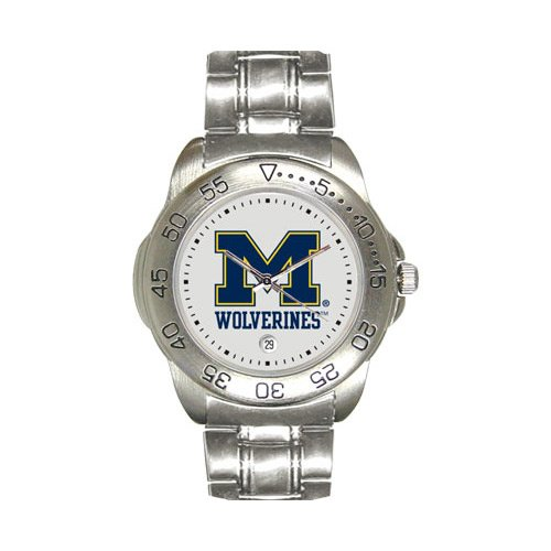 Michigan Wolverines Sport Watch W/Stainless Steel Band