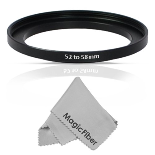 Goja 52-58Mm Step-Up Adapter Ring (52Mm Lens To 58Mm Accessory) + Premium Magicfiber Microfiber Cleaning Cloth