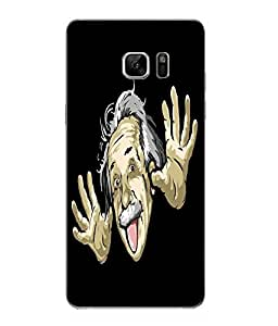 Make My Print Funny Printed Black Hard Back Cover For Samsung Galaxy Note 7