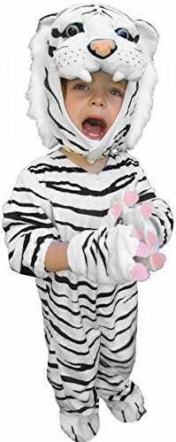 Child Unisex White Tiger Halloween Costume (Toddler 2T-4T)