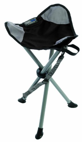 TravelChair Slacker Chair Folding Tripod Camp Stool, Black (Portable Stools Folding compare prices)