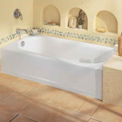 American Standard 239 Princeton Above Floor Americast Recessed Bath Tub Finish: White, Drain: Left Hand front-831082