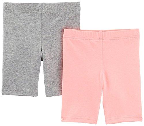 Carters Little Girls 2-pk. Jersey Bike Shorts - Pink/Grey - 5