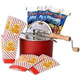 The Original Whirley Pop Stovetop Popcorn Popper Theater Style Popcorn Set