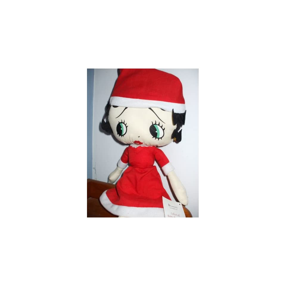 17 Betty Boop Mrs. Claus Dress & Cap Collectible Plush Doll