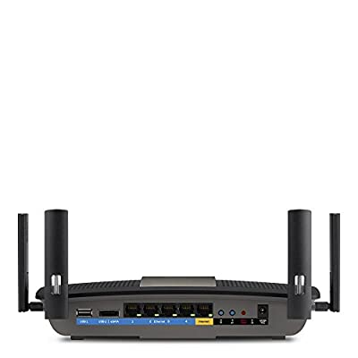 Linksys AC2400 4X4 Dual-Band Gigabit Wi-Fi Router, Optimal for HD Video Streaming and Lag-Free Gaming (E8400)